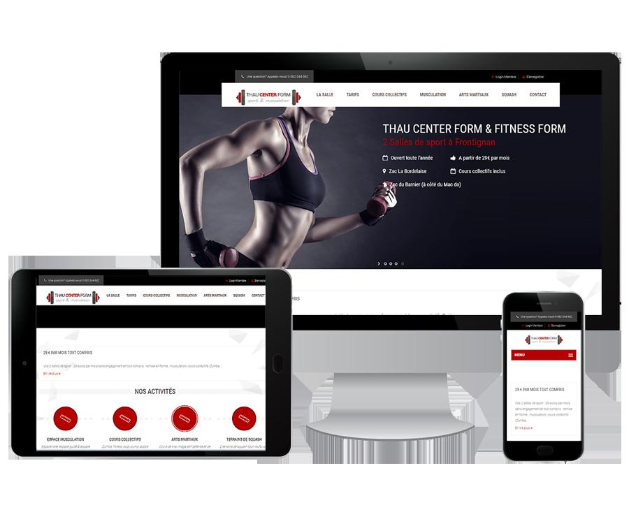 Site internet salle de sport Béziers