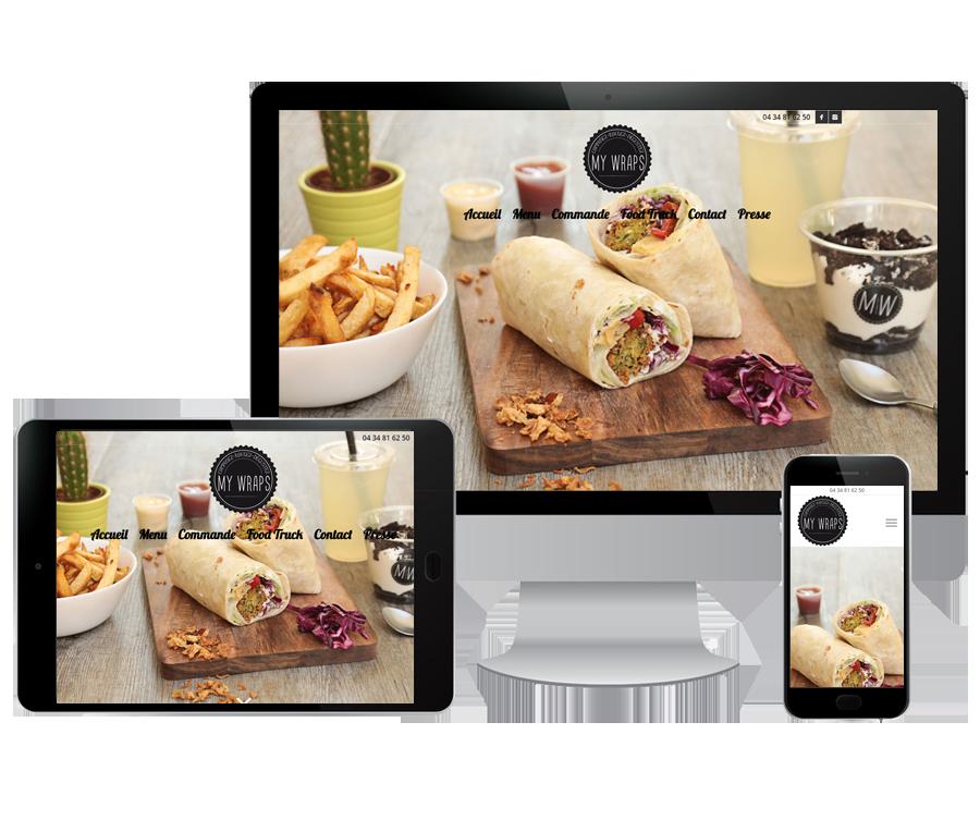 Site internet sandwicherie Montpellier