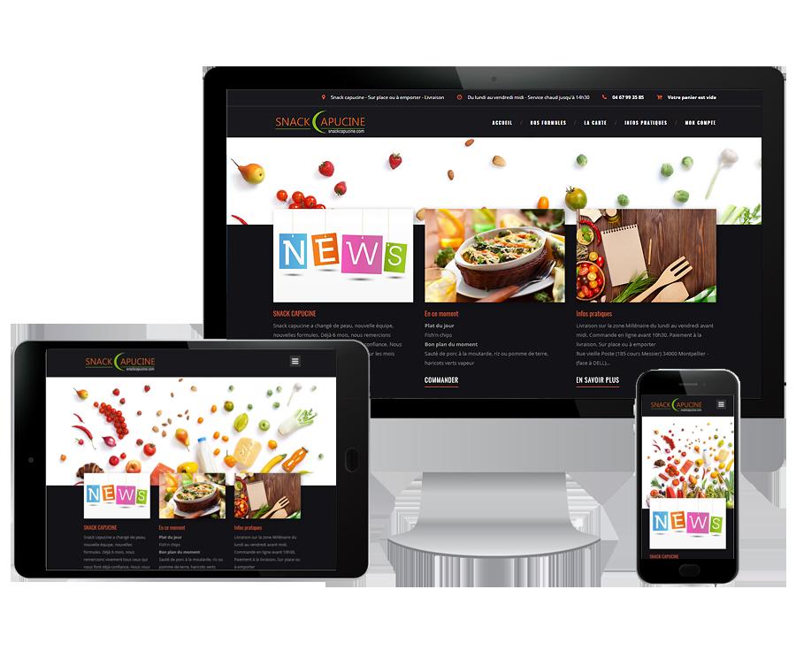 Site internet restaurant Montpellier