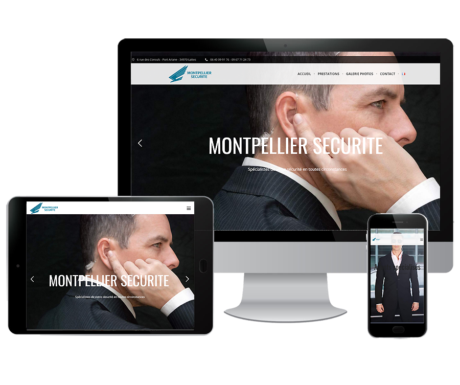 Site internet agence sécurité Montpellier